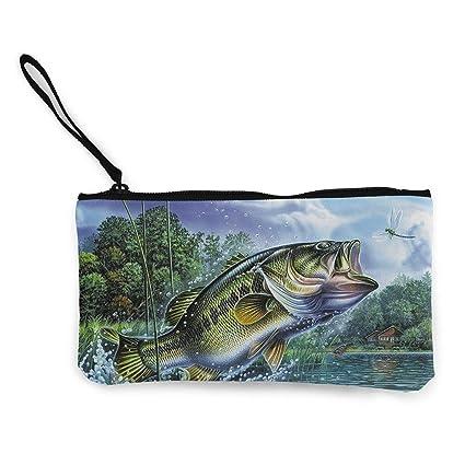 TTmom Carteras de Mujer,Monedero,Animal Sole Fish Salmon ...