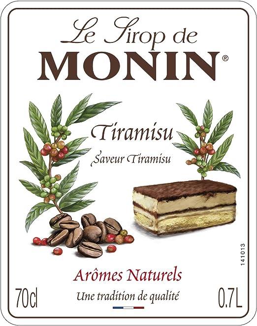 Monin Sirope Tiramisu - Paquete de 3 x 700 ml - Total: 2100 ...