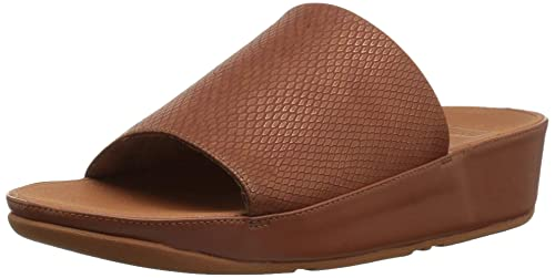 b1566236c fitflop Womens Ginny Snake-Embossed Slide Sandal  Amazon.ca  Shoes ...