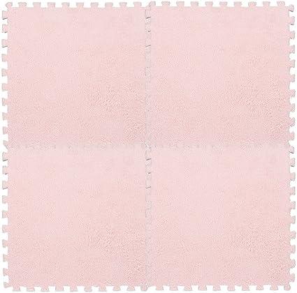 25*25cm Kids Carpet Foam Puzzle Mat EVA Shaggy Velvet Baby Play Mats Eco Floor
