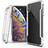 "X-Doria Defense Clear Series, iPhone Xs Max Case - Military Grade Drop Protection, Shock Protection, Clear Protective Case for iPhone Xs Max, 6.5"" inch Screen, [White]"