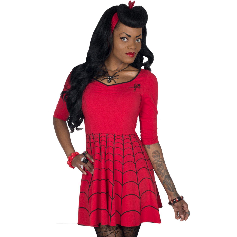 Kreepsville 666 Spiderweb Red Skater Dress Made in USA