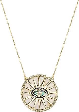 RACHEL Rachel Roy Evil Eye Sun Disc Protection Pendant Necklace for Women Fashion Jewelry