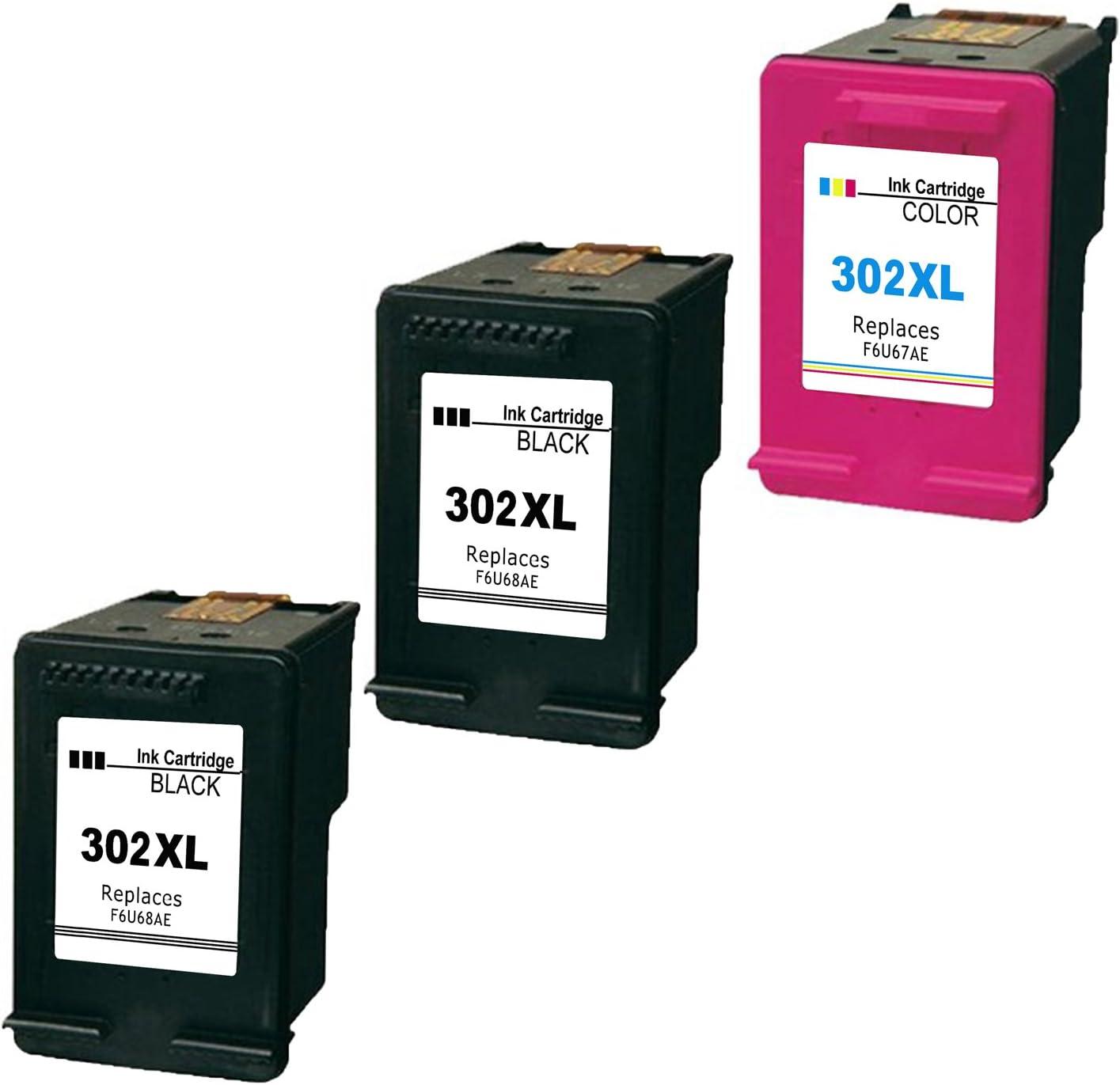 Ink_seller - Paquete de 3 cartuchos de tinta compatibles con HP 302XL (2 negro, 1 color) para impresora HP Envy 45: Amazon.es: Oficina y papelería