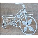Vaso metallico Forma Bicicletta Bianco