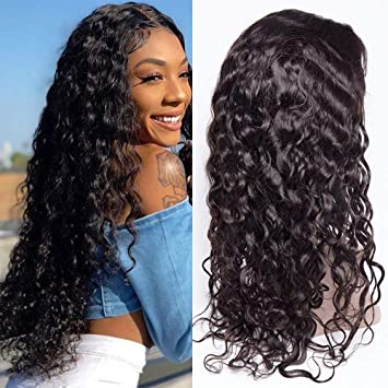 Qlove Lace Front Wigs Water Wave Lace Front Human Hair Wigs For Black Women Natural Indian Remy Human Hair Lace Frontal Wigs Online Discount Hair Extensions & Wigs Human Hair Lace Wigs