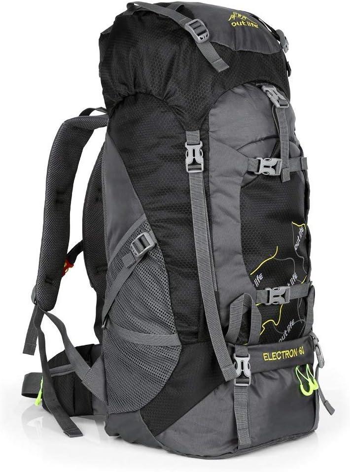 OUTLIFE 60L Hiking Backpack, Lightweight Waterproof Travel Backpack for Men Women Camping Trekking Touring