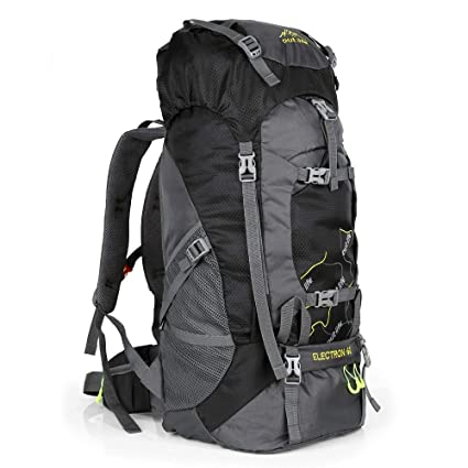 Hiking Backpack 60L Lightweight Water Reasistant Trekking Bag Durable Outdoor  Sport Daypack for Climbing Mountaineering Fishing Travel Cycling (Black)   ... 487aced279468