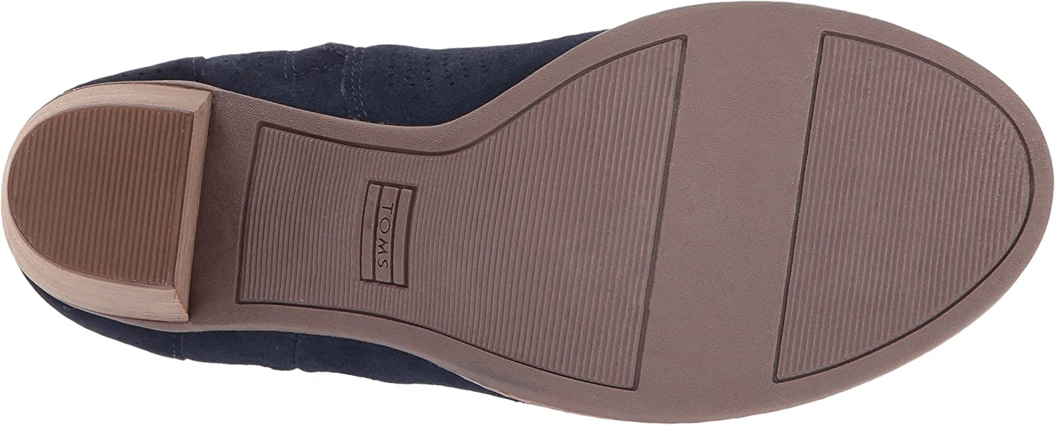 Amazon.com | TOMS Womens Majorca Peep Toe Bootie Navy Suede Perforated Sandal | Sandals