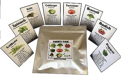 Amazon.com: Semillas de hortalizas de supervivencia Non ...