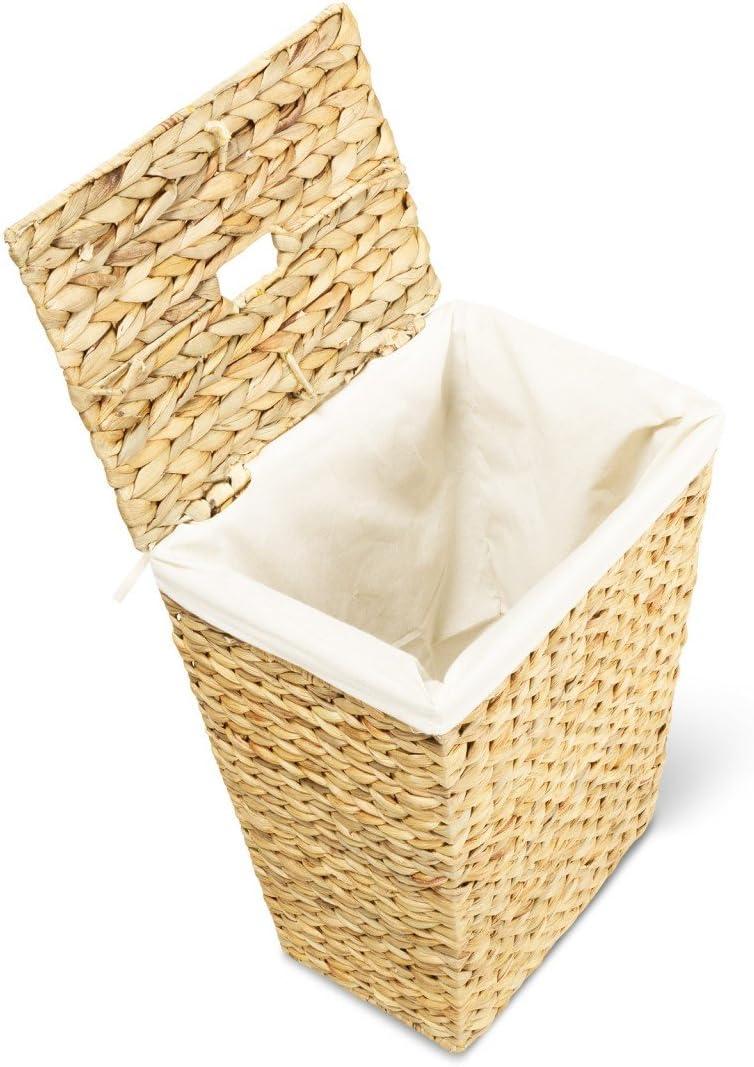 L//P//H Panier /à linge MARKUS corbeille /à linge avec un sac int/érieur amovible en coton capacit/é: 50 l 34x34x43 cm