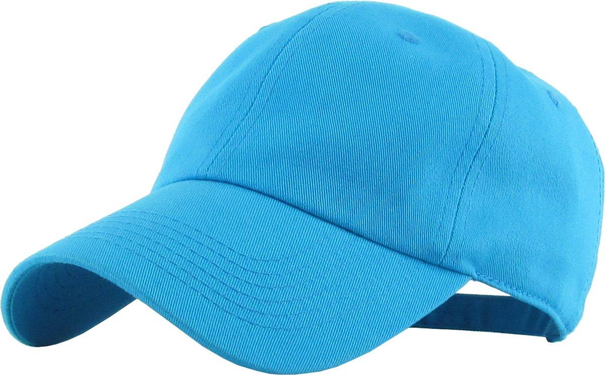 6f16f463dd Galleon - KB-LOW AQU Classic Cotton Dad Hat Adjustable Plain Cap. Polo  Style Low Profile (Unstructured) (Classic) Aqua Adjustable