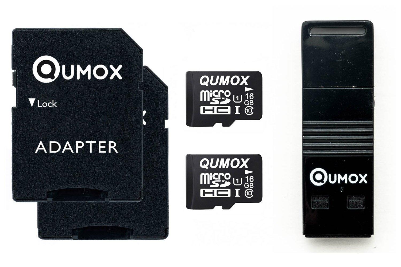 QUMOX 64GB MICRO SD MEMORY CARD CLASS 10 64 GB con OTG USB Lettore nuovo qx-microsd-64gb
