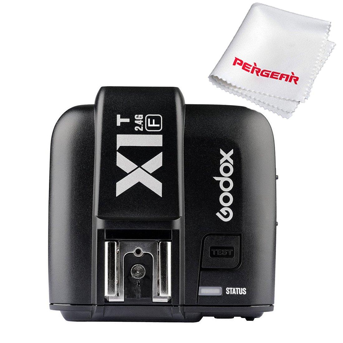 Godox X1T-F Trigger for Fuji Fujifilm Cameras TTL 1/8000s HSS 2.4G Wireless Transmitter 32 Channels - With PERGEAR Cleaning Cloth