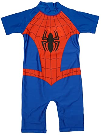 3544b89a3e Spiderman UV Protection Sunsafe Swimsuit Swim Wear Boys Age 1.5-5 Years  (2-3 Years): Amazon.co.uk: Clothing
