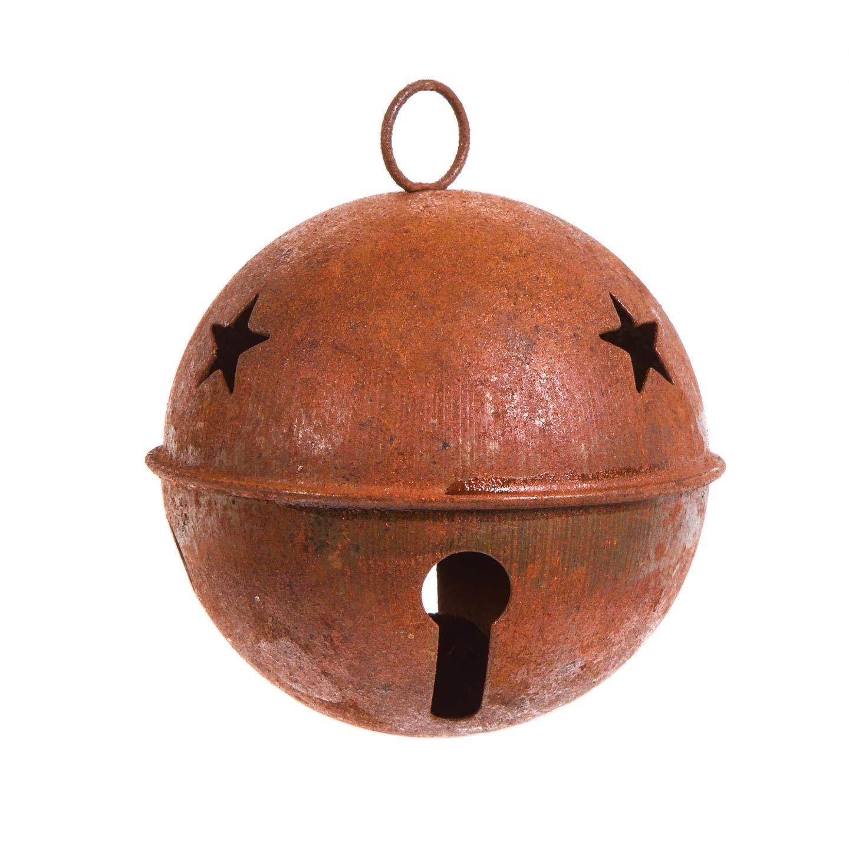 Bulk Buy: Darice DIY Crafts Rusty Bell with Star Cutouts 65mm (12-Pack) 1091-20 Inc. MUS266744