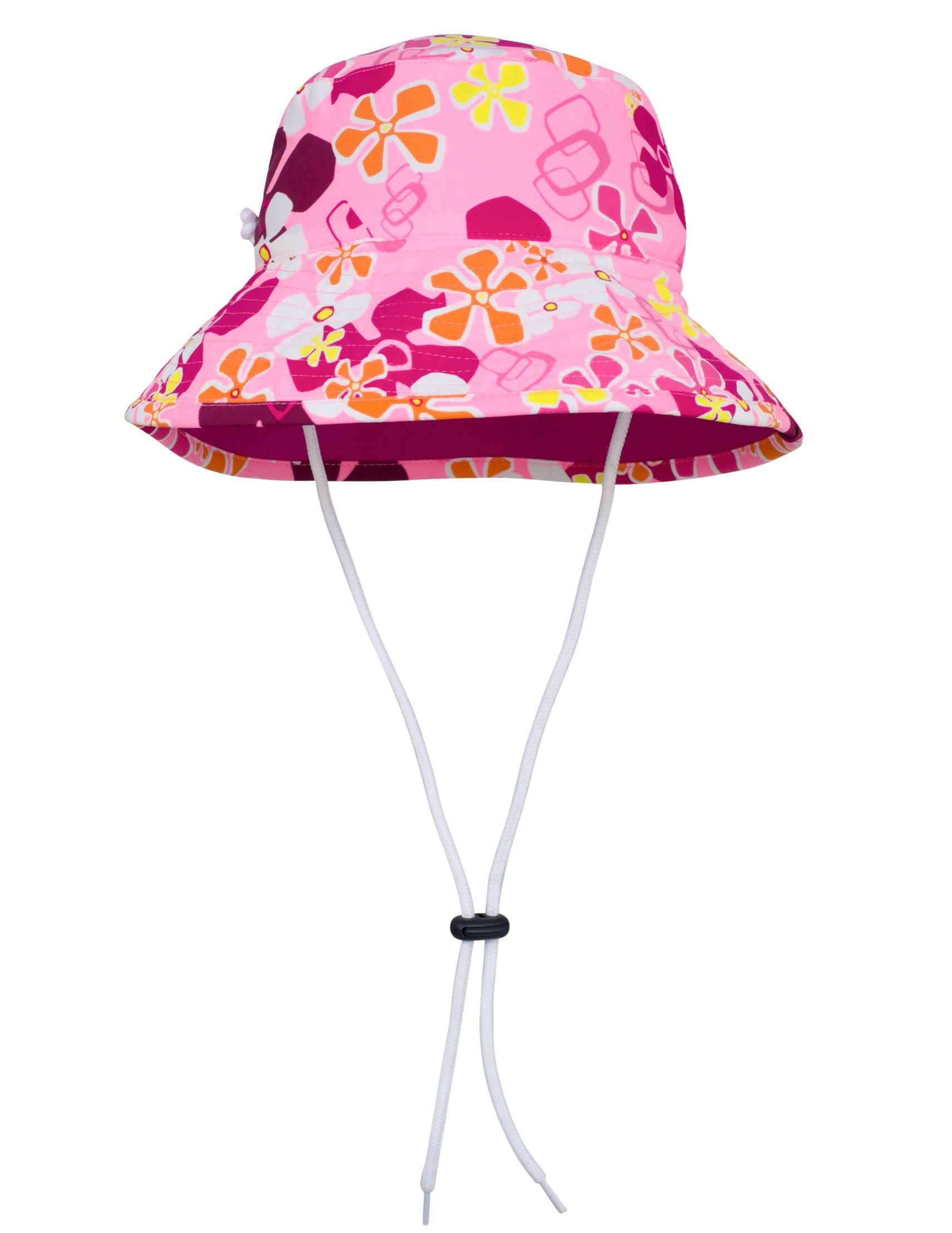 Tuga Girls Bucket Hat (UPF 50+), Misty Pink, Large