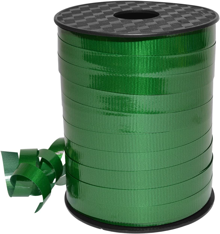 3//8 x 250 yd Morex Ribbon 18310//250-607 Lucky Glossy Curling Ribbon Emerald