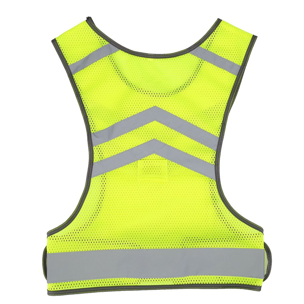High Visibility Safety Gear Adjustable Reflective Vest for Outdoor Sports Cycling Running Hiking Alomejor Reflective Vest