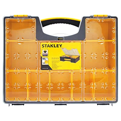 Stanley 10 Removable Bin Compartment Deep Professional Organizer - Tool Holsters - .com