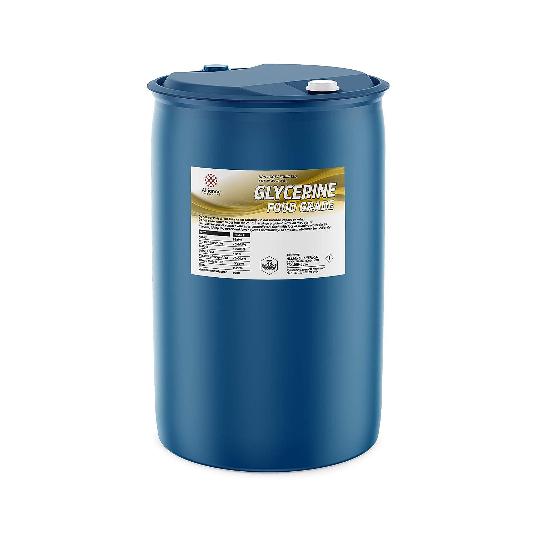 Alliance Chemical High Purity Vegetable Glycerin, USP Food Grade - 55 Gallon Drum