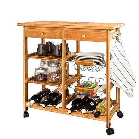 Amazon.com: haotian carrito de cocina de almacenamiento ...