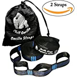 Chill Gorilla PRO XL Hammock Tree Hanging Straps. 30+2 Loops 1400 Pounds Supported, No Stretch, Ultralight, Super Strong, Tree Friendly, Fast Easy Setup. Hammock Camping. ENO Accessory
