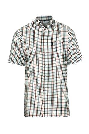 2ad40b3e Champion Mens Stowmarket Country Casual Short Sleeve Shirt - Navy Check -  Medium - Max Chest