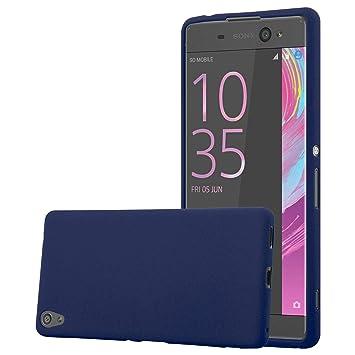 Cadorabo Funda para Sony Xperia XA Ultra en Frost Azul Oscuro - Cubierta Proteccíon de Silicona TPU Delgada e Flexible con Antichoque - Gel Case Cover ...