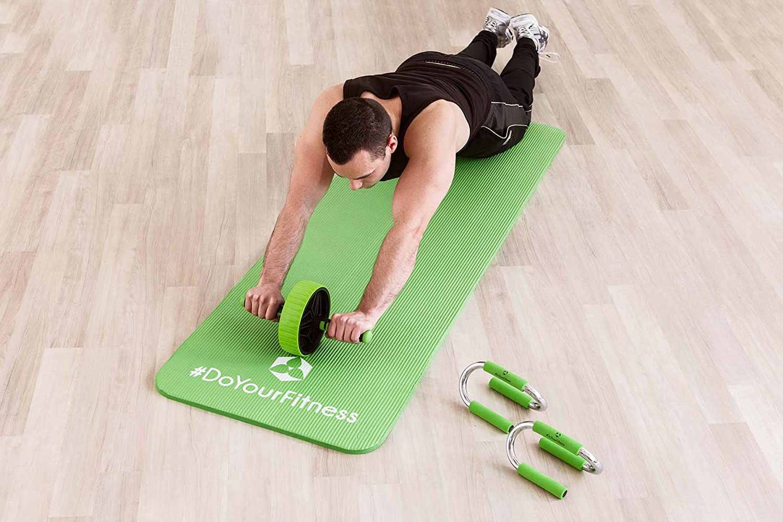 190 x 100 x 1 cm #DoYourFitness x World Fitness Fitness Mat XXL Outdoor Workout Ginnastica e casa Pilates Tappetino da Palestra Ashanti Ideale per Yoga Antiscivolo e Robusto