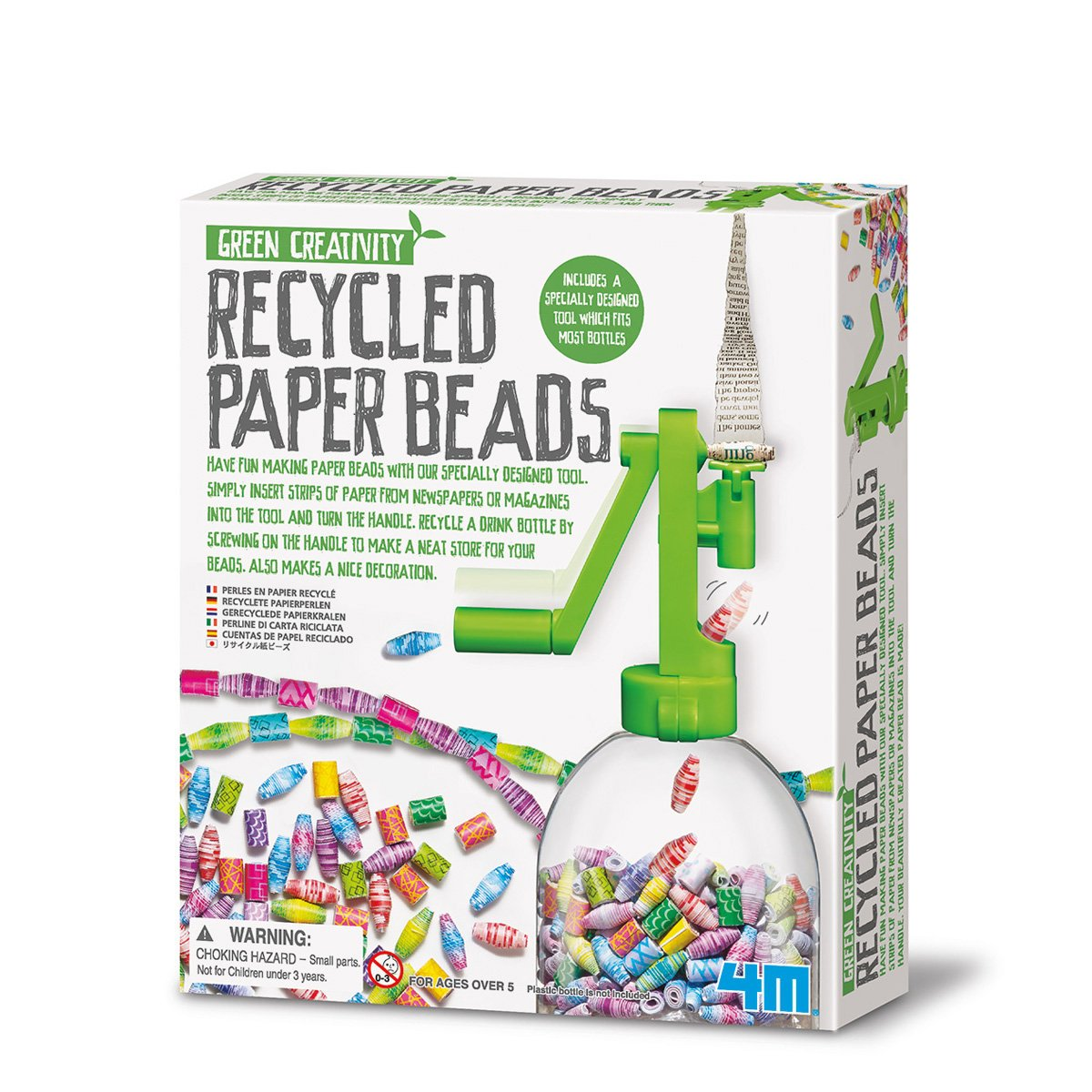4M Green Creativity Recycled Paper Beads Great Gizmos GG4318