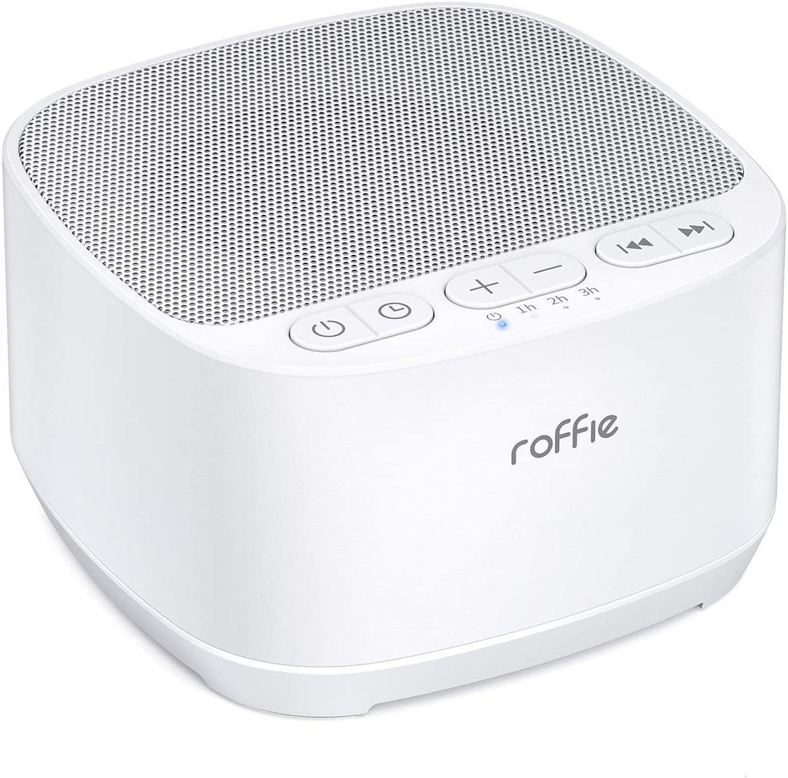 White Noise Machine, Roffie Sound Machine for Sleeping Baby & Adults, 40 HiFi Nature Sounds Noise Maker, Portable Sleep Machine Home Nursey Office Travel, Timer & Memory, Volume Control, Power by USB