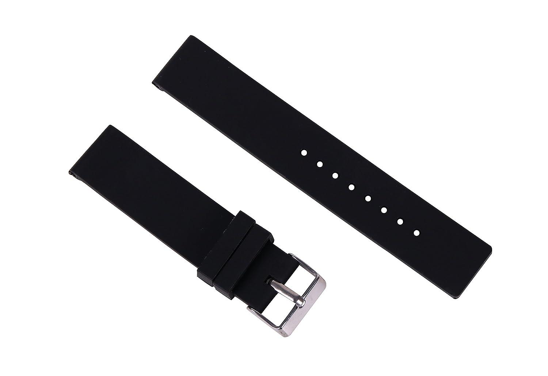 reloj de buceo de caucho de silicona de reemplazo de la correa de bandas impermeables de 16 mm de mujer para relojes inteligentes en negro: Amazon.es: ...