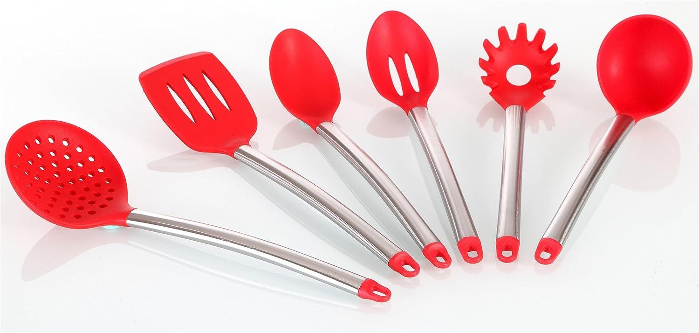 6 Stück Küchenhelfer Set Küchenutensilien Set und Halter mit Ständer ...