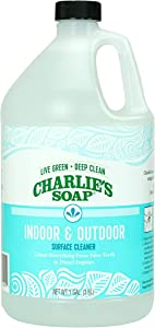 Charlie's Soap - Indoor-Outdoor Surface Cleaner - Non-Toxic, Biodegradable, Multi-Surface Use - (1 Gallon, 1 Pack)