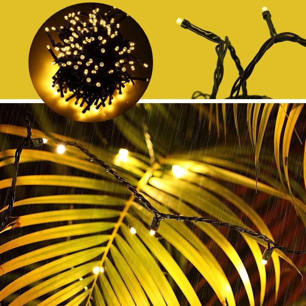Tersely 100 Lumi/èRes De Guirlande De 10M LED,Basse Tension 31V Lumi/èRes De Guirlande DInt/éRieurs//Ext/éRieurs Lacrymog/èNes Pour LArbre De No/ëL /ÉV/èNements De Mariage De Jardin