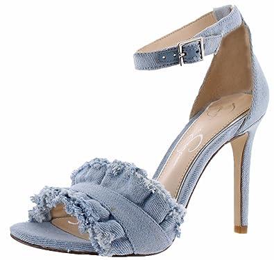 Jessica Simpson Silea Women's Open-Toe Dress Pumps Shoes Ankle Strap