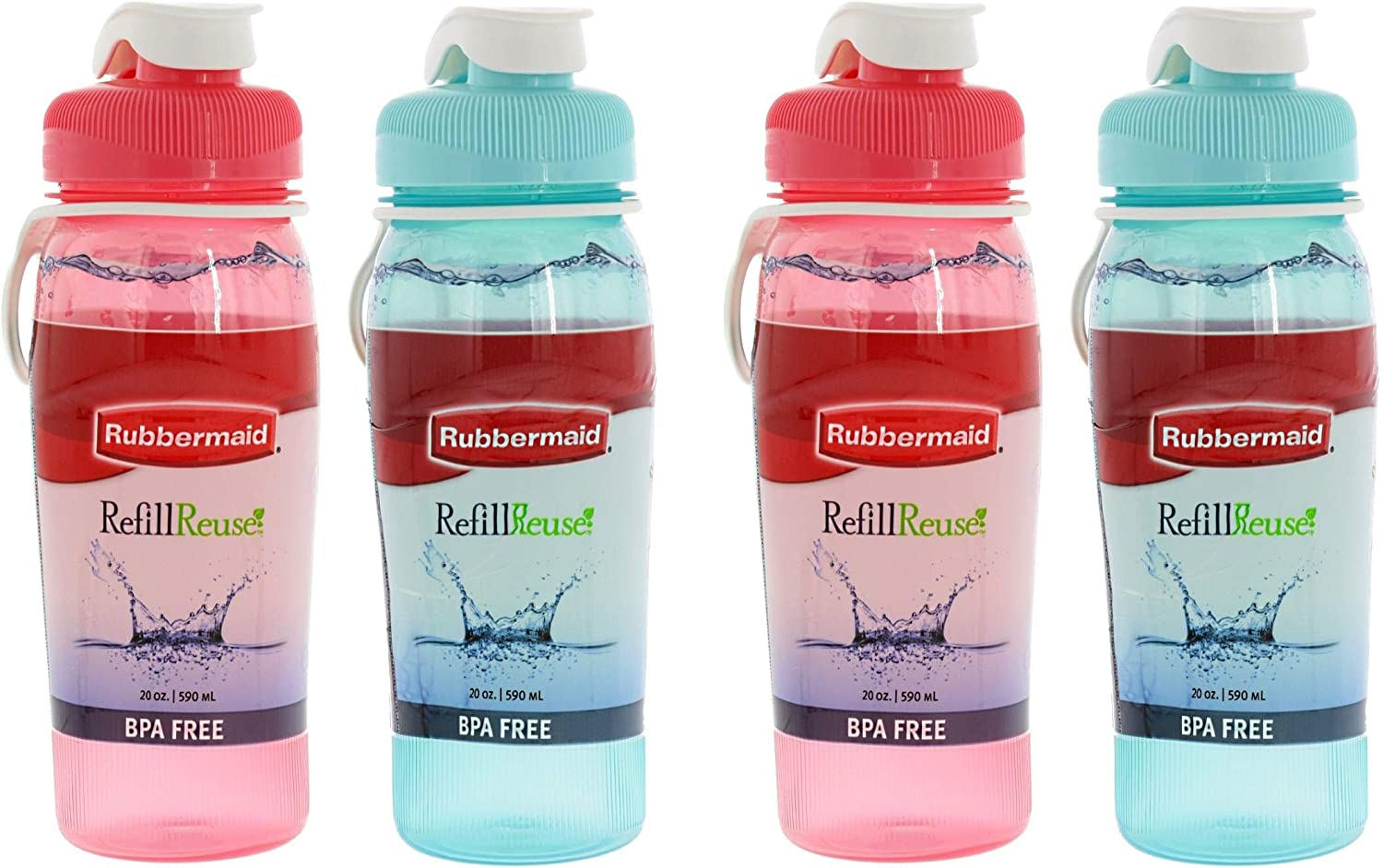 Rubbermaid Refill Reuse Bottle, 20 Ounce, Assorted Colors