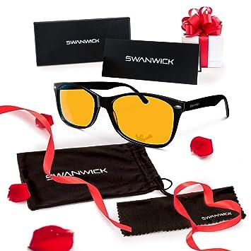 Swannies Blue Light Blocking Glasses - Gamer and Computer Eyewear for Deep  Sleep and Digital Eye 9bf3932ce0