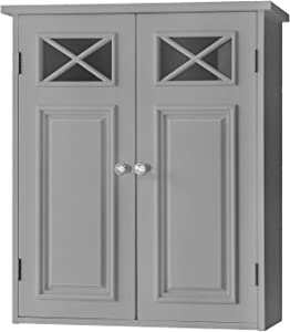 Elegant Home Fashions Dawson Wall Cabinet, Grey