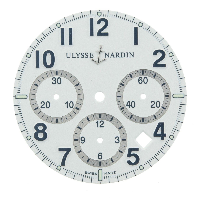 Ulysse Nardin 32 mm weiß Zifferblatt fÜr 40 mm fÜr 353–88–7 marine Chronograph
