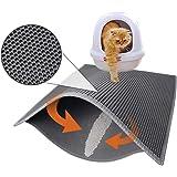 "Pieviev Cat Litter Box Mat Litter Trapper of Jumbo Size 30"" X 24"", Honeycomb Double-Layer Design Waterproof Urine Proof…"