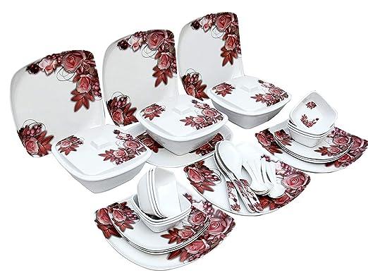 King - Vajilla de melamina apta para microondas (40 piezas ...