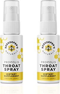 product image for BEEKEEPER'S NATURALS Propolis Throat Spray - 95% Bee Propolis Extract - Natural Immune Support & Sore Throat Relief - Antioxidants, Keto, Paleo, Gluten-Free, 1.06 oz (Pack of 2)
