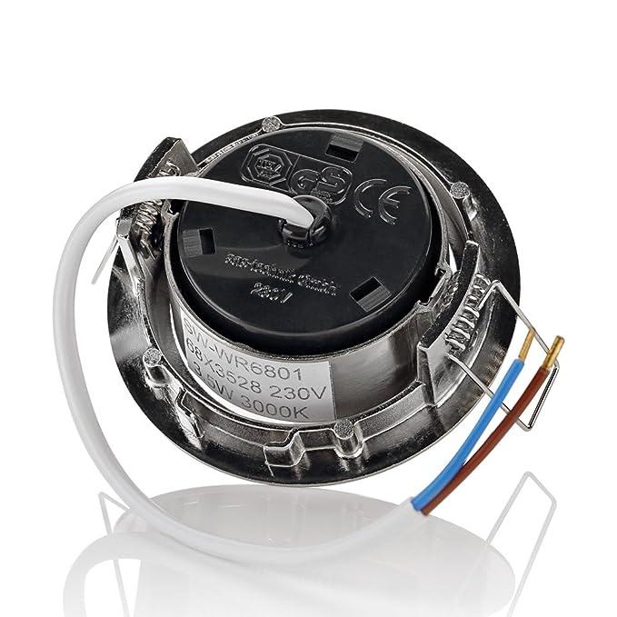 sweet-led 6 x flache Einbaustrahler LED rostfrei 230V, 3,5W ultra ...