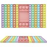 SUPYINI Push Pop Fidget, Push Pops 126 bolhas Fidget Sensory Toys Pop Its Funny Relief Stress Desktop Game Toy Soft Squeeze T
