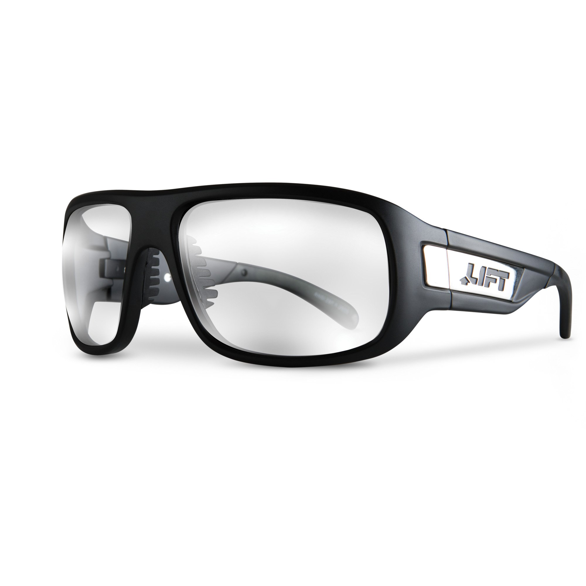 LIFT Safety BOLD One Size Safety Glasses (Matte Black Frame/Clear Lens) by LIFT Safety