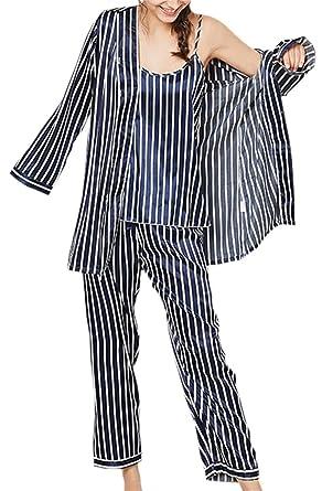 Ameyda Women s Striped 7-Piece Pajama Set at Amazon Women s Clothing ... a629688d6
