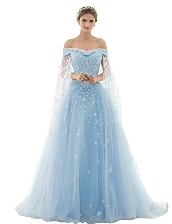 bb73061aa vimans Womens Long Off Shoulder Beads Lace Wedding Dress for Elegant ...