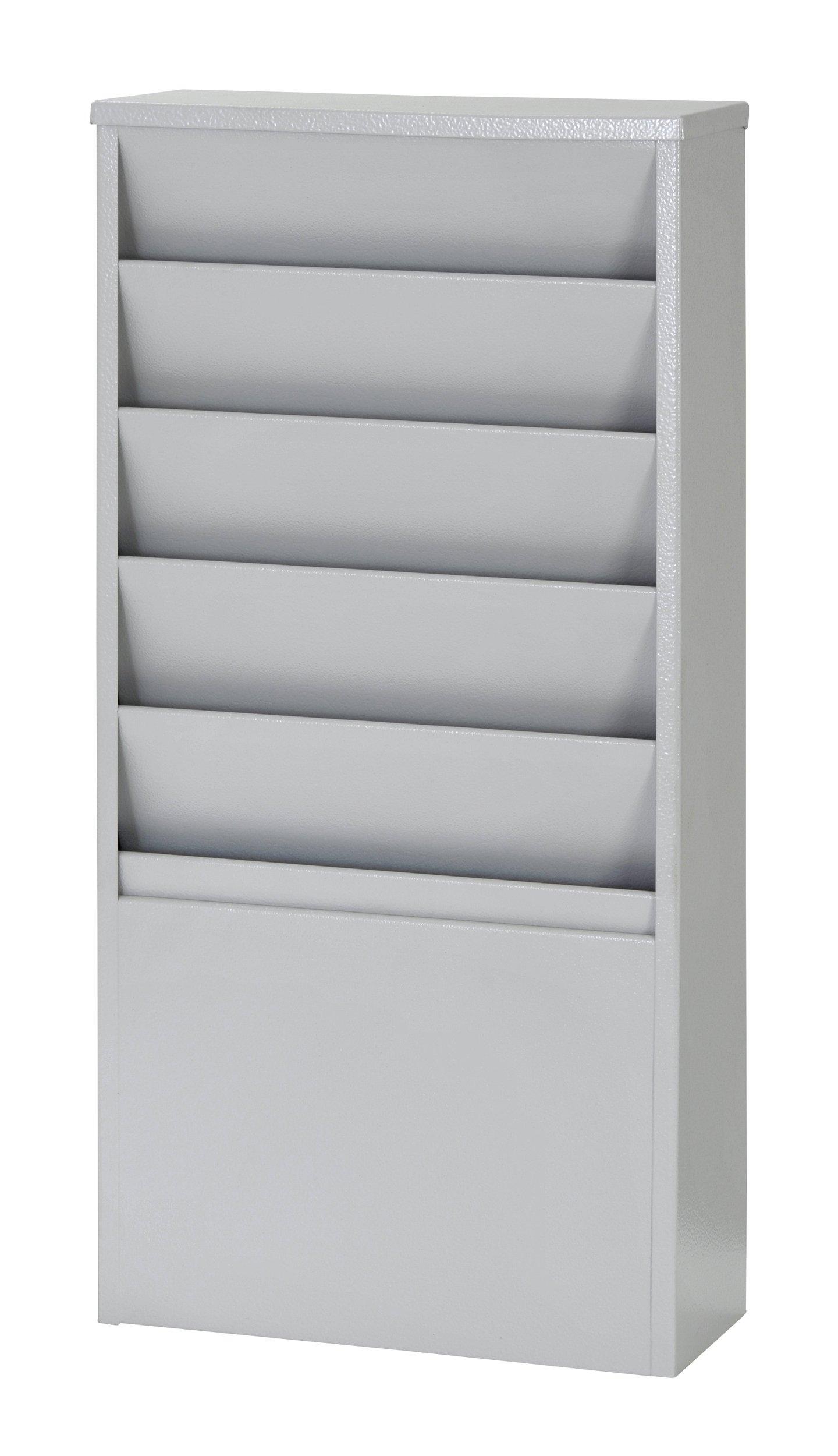 Buddy Products 5-Pocket Display Rack, Steel, 4 x 20.38 x 9.75 Inches, Platinum (0811-32)